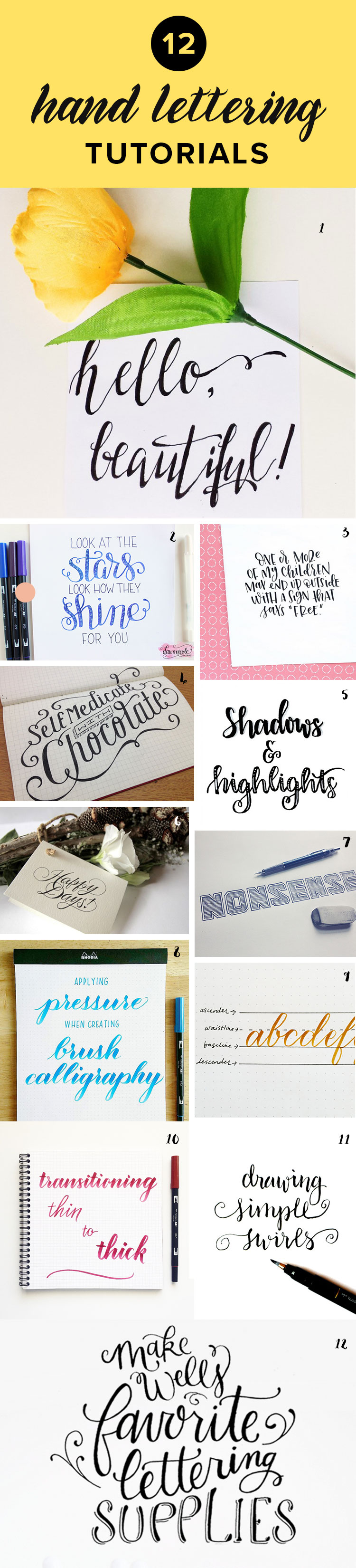 Want To Learn Hand Lettering Check Out These Free Tutorials That Teach You Everything From