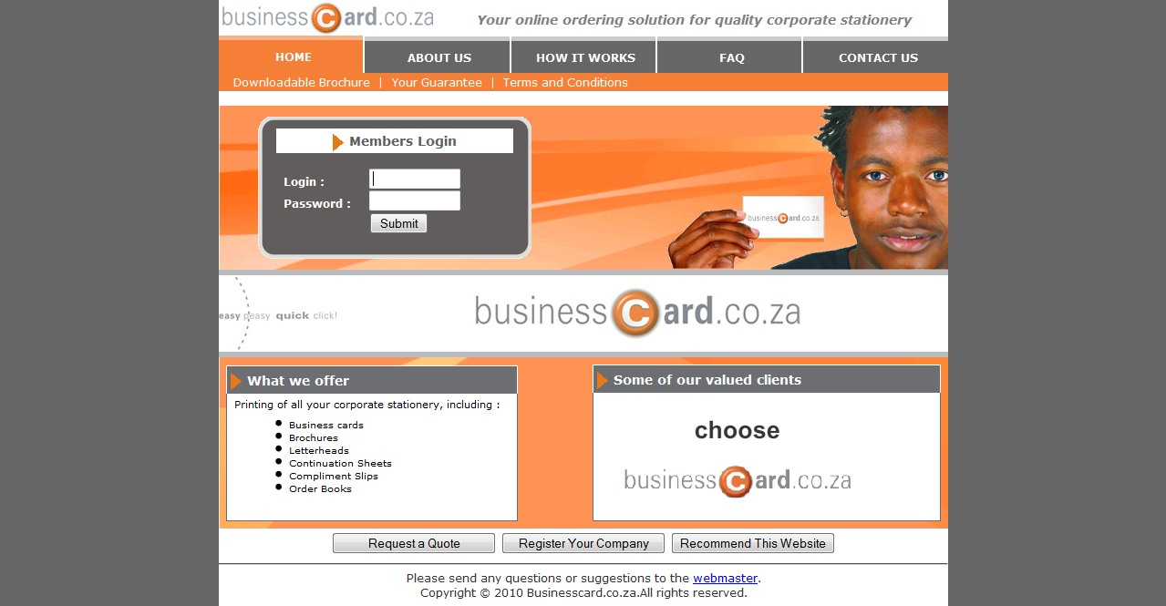 business card printing south africa