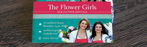 New Work: Marketing Materials for The Flower Girls