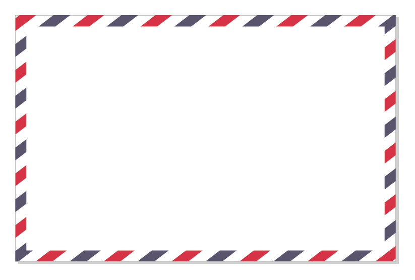 How To Make An Airmail Border In Coreldraw
