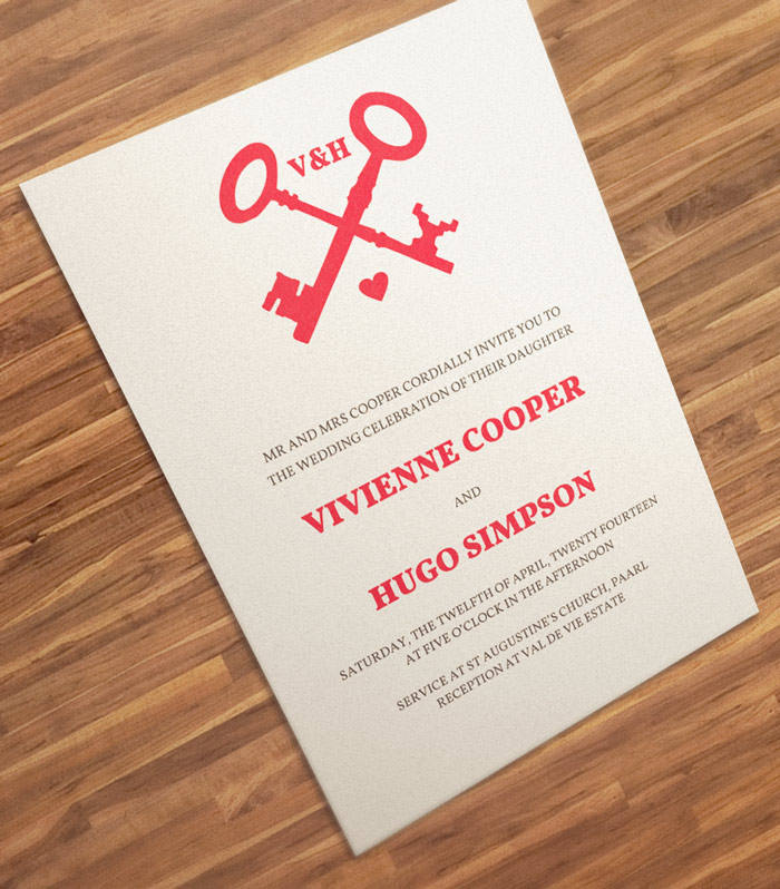 red printable wedding invitation template
