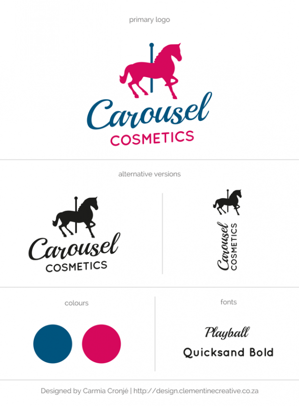 cosmetics custom logo design