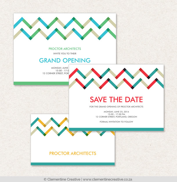modern zigzag business stationery