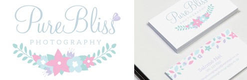 New Work: Logo & Business Card for PureBliss Photography