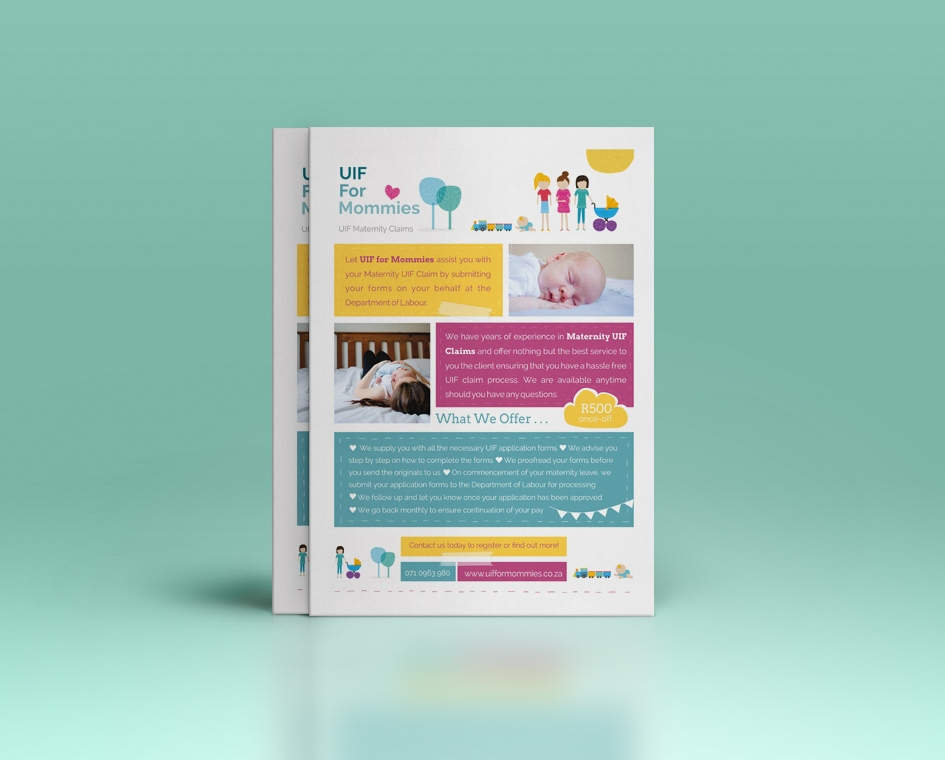 fun baby and mommy flyer design