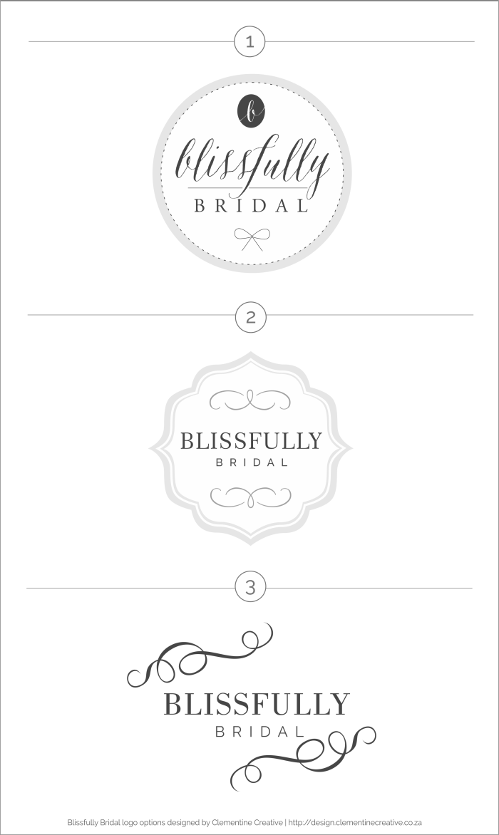 bridal boutique logo options