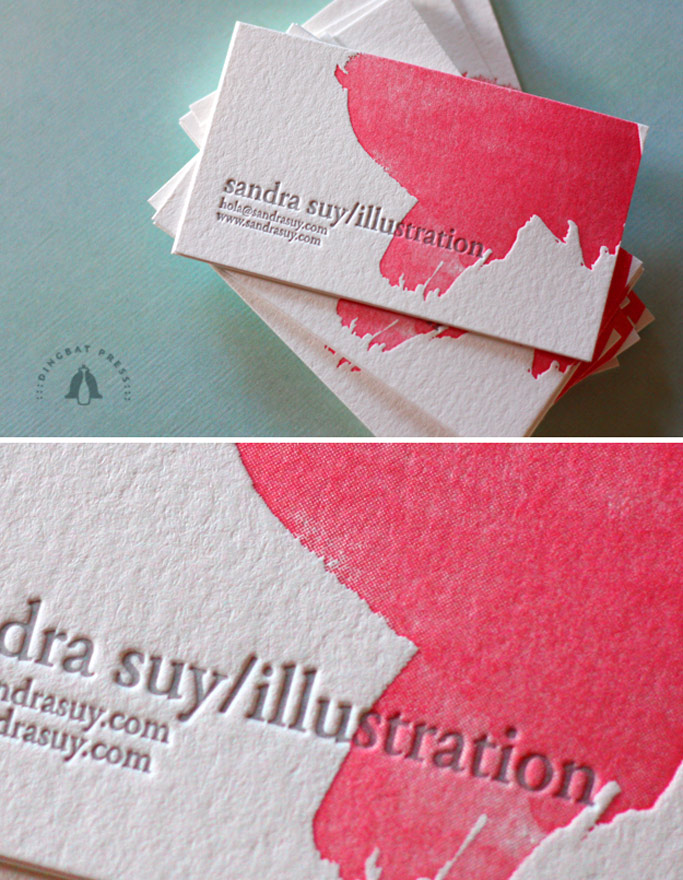 sandra suy watercolour business cards