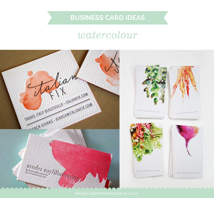 watercolour business card ideas