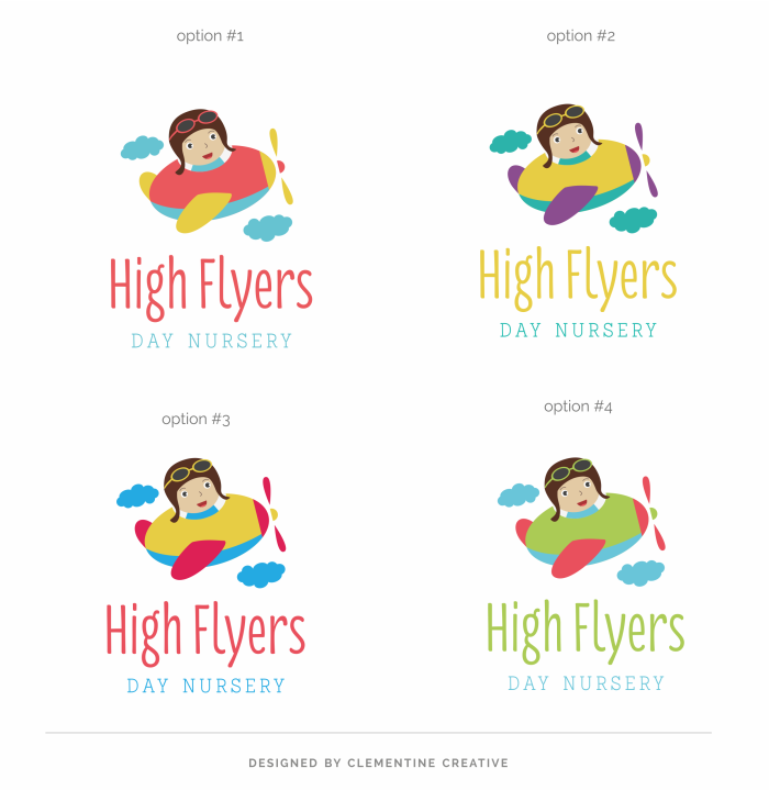 day nursery logo options