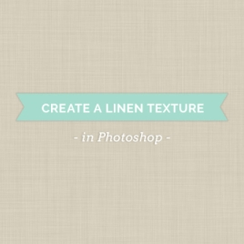 how to create linen texture in photoshop