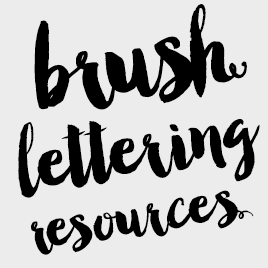 A Collection of Amazing Brush Lettering Tutorials and Resources