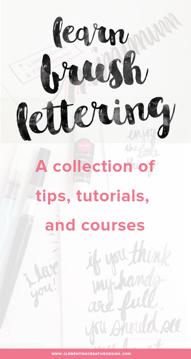 learn brush lettering - courses and free tutorials
