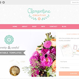 New Website Design for my Printables Shop