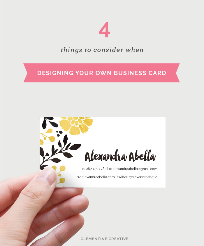 Tips for Designing Your own Business Card: Part 1