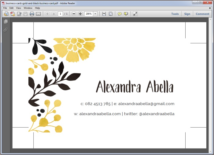 print-ready PDF business card tutorial