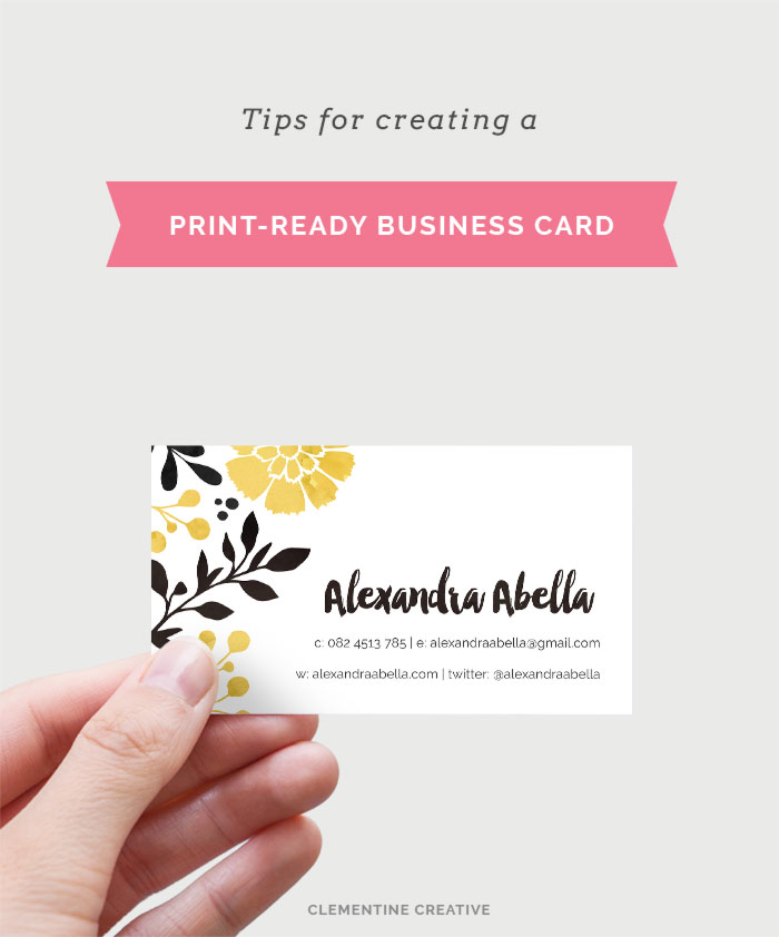 tips for creating a print-ready business card