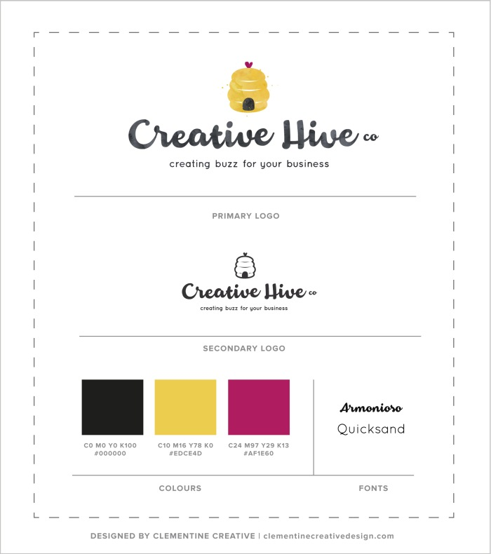 Logo design for Creative Hive Co. Designed by Clementine Creative