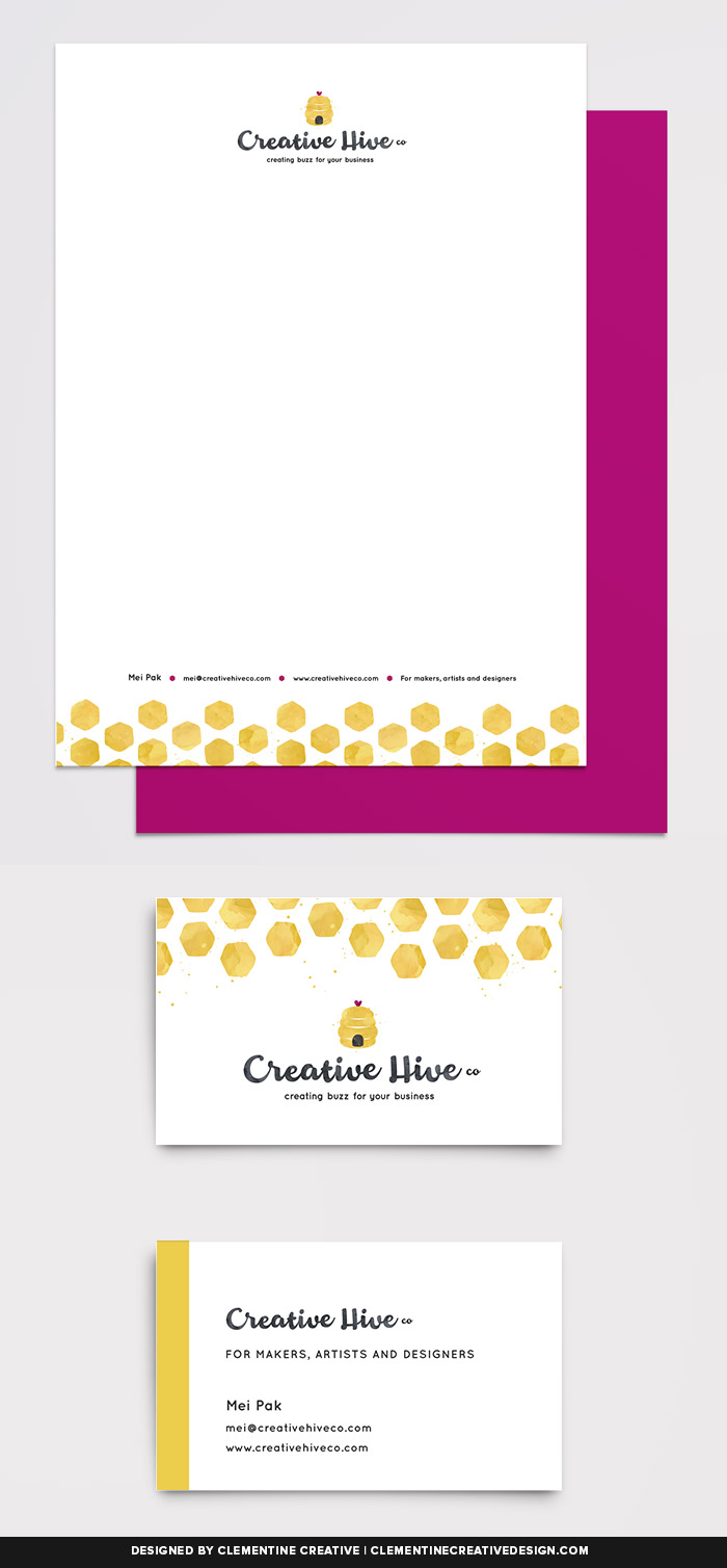 Print materials for Creative Hive Co. Designed by Clementine Creative