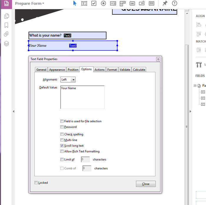 how to create fillable form in acrobat