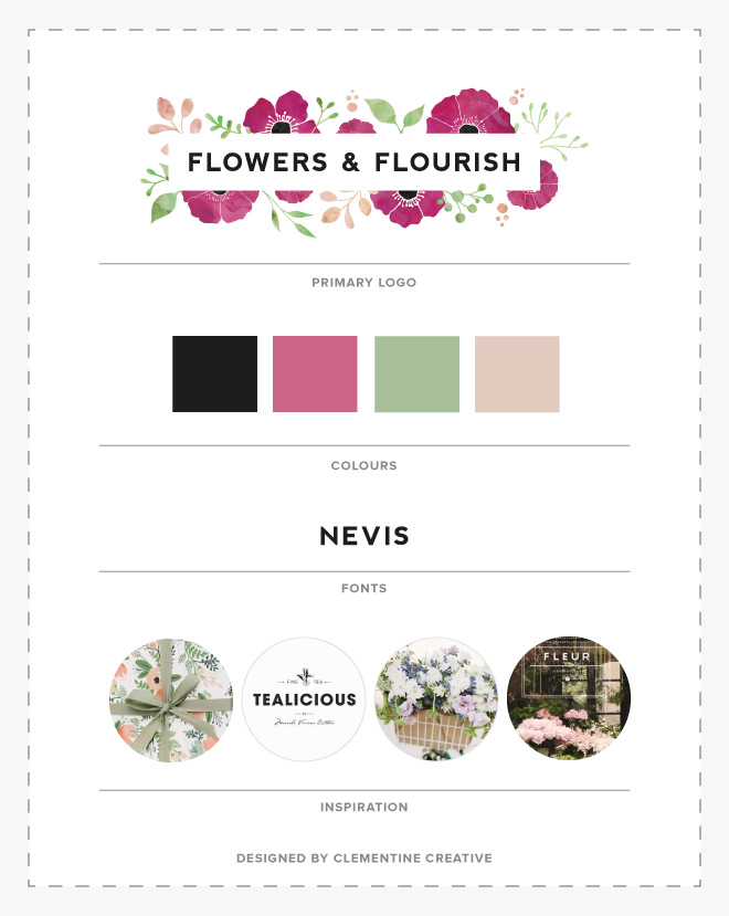 flowers and flourish personal coaching logo options