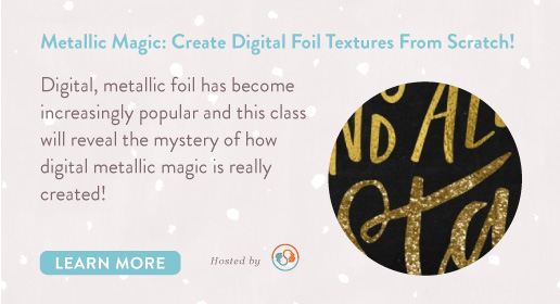 learn to create digital foil textures